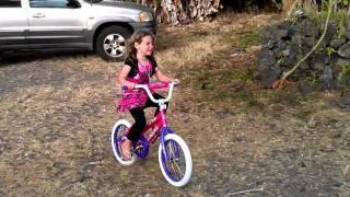 Ella's first ride on her new bike