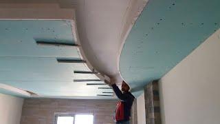 تركيب جبسم بورد أسقف بلاستيكية أسقف معلقة سقف ثانوي ديكورات منازل ديكور جبصين.