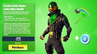 "New ""LUCKY RIDER"" Skin Bundle in Fortnite! NEW 2019 ST PATRICKS DAY SKINS! (Lucky Rider Skin Leaked)"