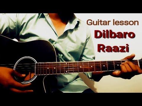 Dilbaro song guitar lesson || Raazi || easy guitar lesson || Arijit singh || Shankar Ehsaan Loy ||
