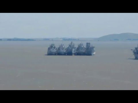 Mothballed ships remaining in Suisun Bay