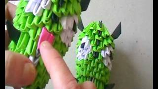 3d Origami: Gir (from Invader Zim) Part 3