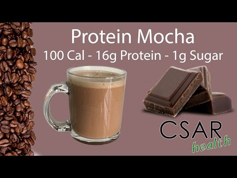 Protein Mochaccino - 100 Calories - 16g Protein - 1g Sugar (Hot or Cold Coffee Beverage)