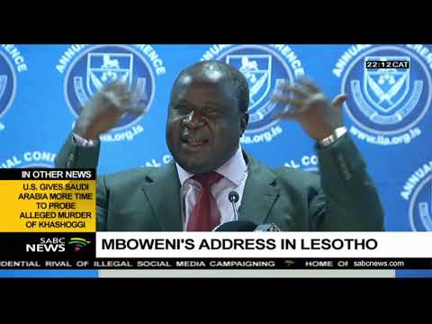 Tito Mboweni's address in Lesotho