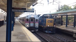 Fast MBTA Train Meets CSX w/Doppler Effect!
