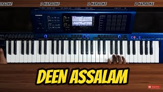 Deen Assalam karaoke lirik versi dangdut semi koplo