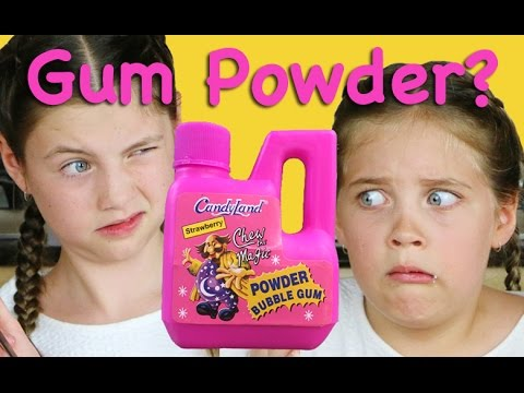 GUM POWDER?  Weird food taste test by Charli's crafty kitchen - Taste test tuesday