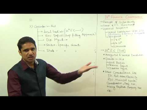 (1/2)14th Finance Commission   Explained by M K Yadav