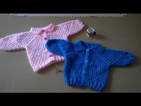 Chaqueta dos hexagonos youtube - Tejer chaqueta bebe 6 meses ...