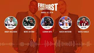 First Things First audio podcast(8.15.18) Cris Carter, Nick Wright, Jenna Wolfe | FIRST THINGS FIRST thumbnail