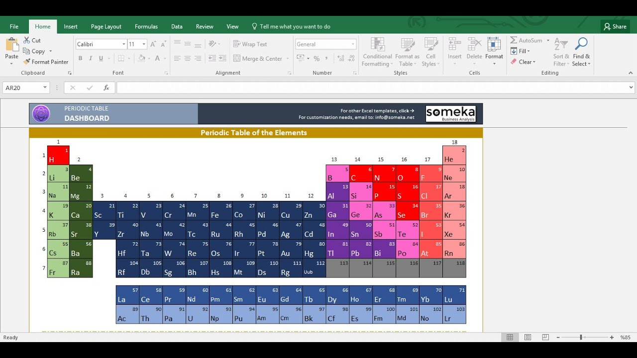 Periodic table worksheet printable excel template youtube gamestrikefo Gallery