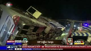 Evakuasi Bus Terbalik di Subang Berlangsung 5 Jam