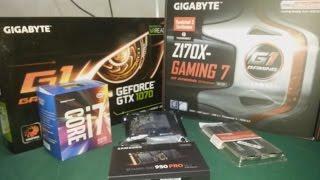 gTX 1070 8GB  i7 6700 Z170X GAMING 7 ULTRA GAMING PC MONTAJI