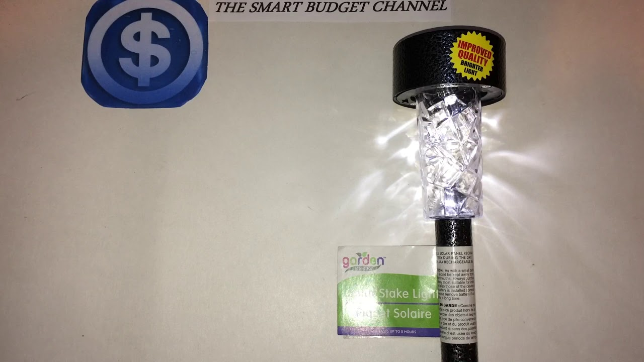 Garden Collection Solar Stake Light Review Dollar Tree