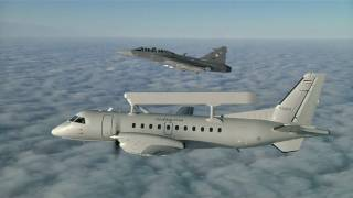 Royal Thai Air Force Gripen and Saab 340 Erieye AEW