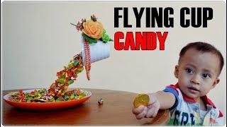 Flying Cup Candy Tutorial |  Cara Simpel Membuat Permen Tumpah Dari  Gelas