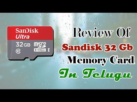 Review Of 32 gb Sandisk Memorycard In Telugu