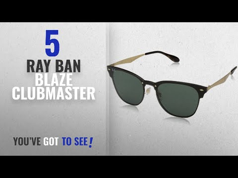 4096c379c6 Top 10 Ray Ban Blaze Clubmaster [ Winter 2018 ]: Ray-Ban RB3576N Blaze  Clubmaster Sunglasses, - YouTube