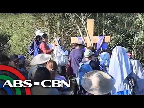 Bandila: Stations of the cross near Taal Volcano crater