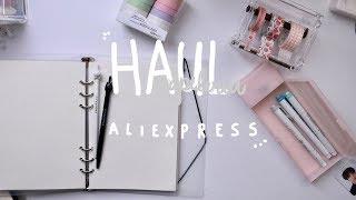 un haul de papeleria de Aliexpress kawaii ( ͡°⁄ ⁄ ͜⁄ ⁄ʖ⁄ ⁄ ͡°)  (intente mas ASMR)