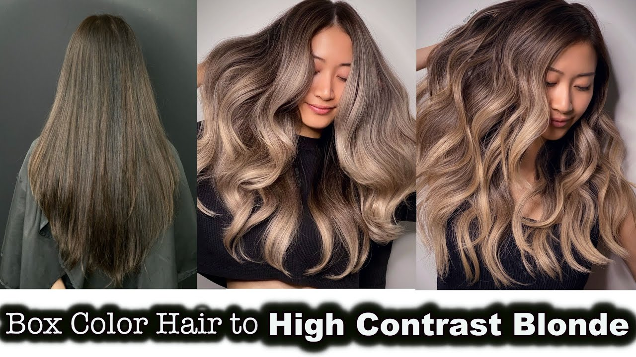 BOX COLOR HAIR to HIGH CONTRAST BLONDE