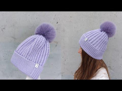 Вязание шапок спицами с описанием и схемами бесплатно