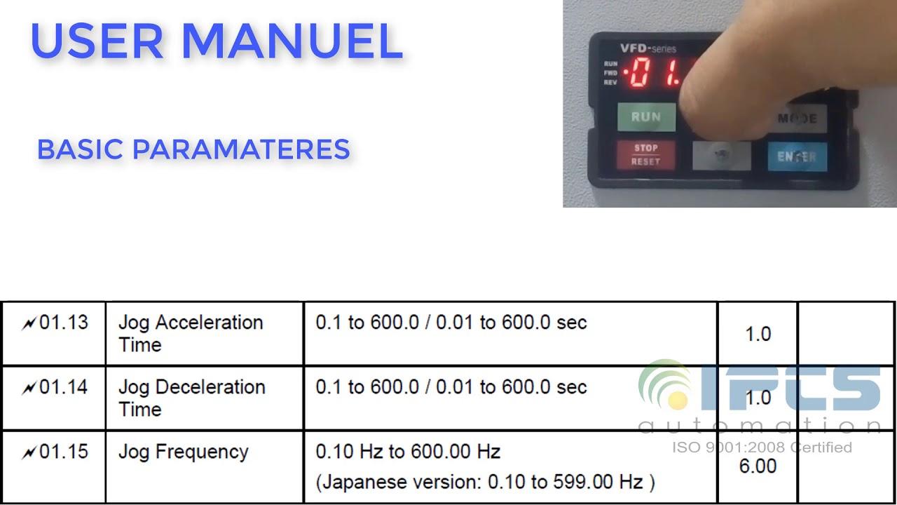 Delta Vfd El Parameter Manual