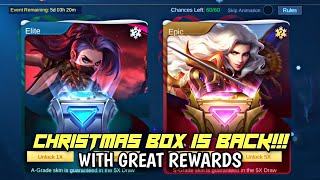 MOBILE LEGENDS NEW EVENT CHRISTMAS BOX • MOBILE LEGENDS FREE SKIN