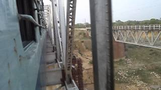 Crossing Gambhir River (Rajasthan) (Onboard Goa Sampark Kranti Express)