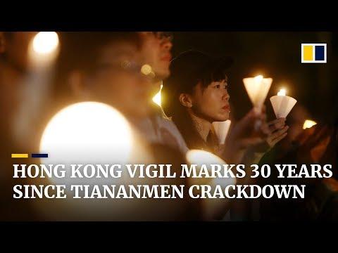 Hong Kong vigil marks 30 years since Tiananmen crackdown