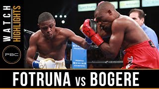 Fortuna vs Bogere Highlights: February 9, 2019 - PBC on Showtime