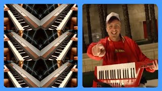 this video is for a tax write off (Gus Johnson) but with 6 pianos