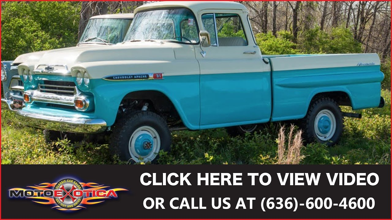 1959 Chevrolet Apache 4x4 Sold Youtube 1955 Ford F100 Heater Core