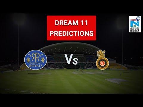RCB VS RR 53th IPL Match DREAM 11 Team & Bangalore vs Rajasthan playing 11
