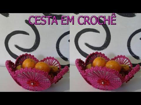 PASSO A PASSO DESSA LINDA CESTA FEITA COM CDS E CROCHÊ SUPER FACIL
