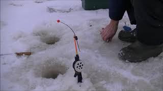 Зимняя Рыбалка 23 декабря Ловля Ельца на течении снастью вертолёт