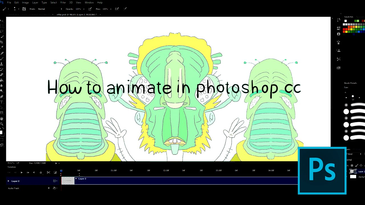 How to animate in photoshop cc youtube how to animate in photoshop cc ccuart Choice Image