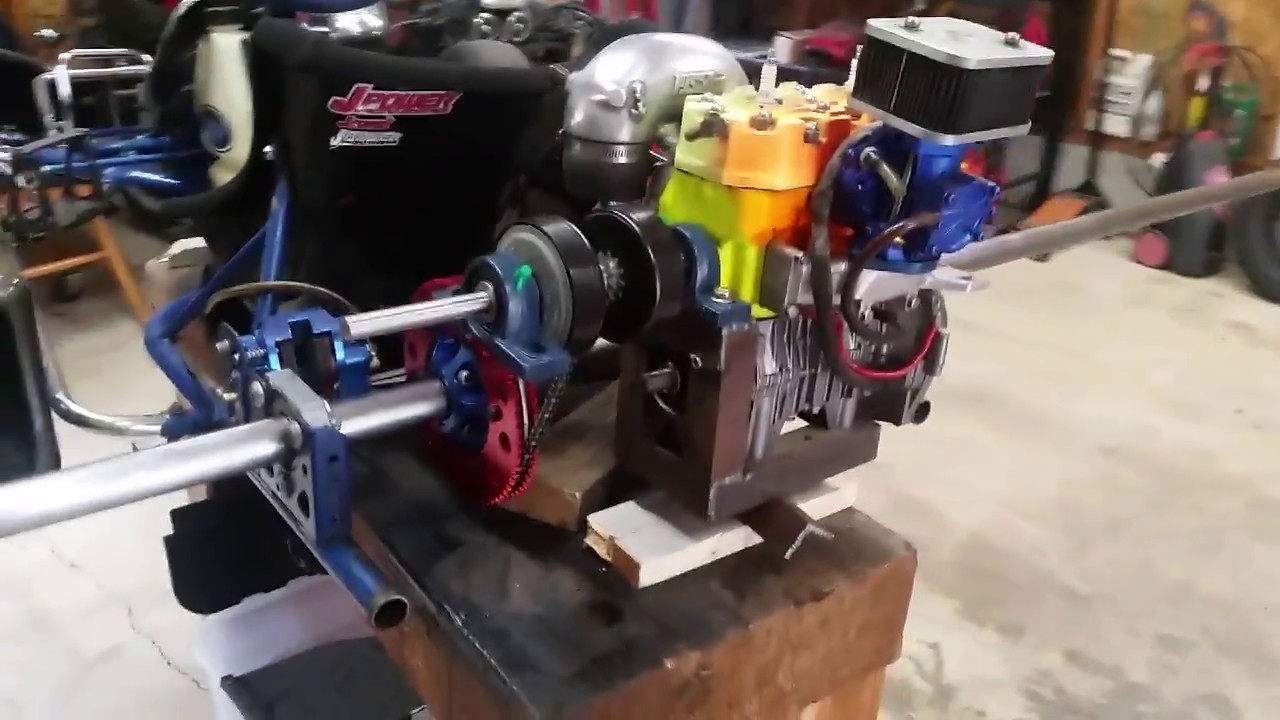 Go kart jetski motor swap  Getting closer