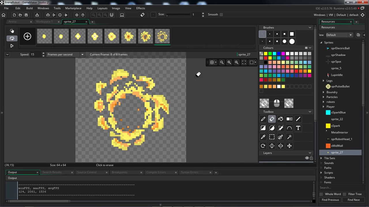 Calendar Maker Art Explosion : Explosion pixel art gamemaker studio youtube