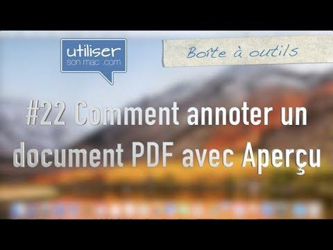 22 Comment Annoter Un Document Pdf Avec Apercu Youtube