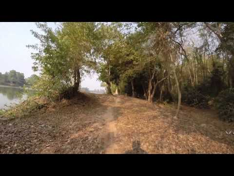 Bike trail around the moat of Ankgor Wat, Cambodia