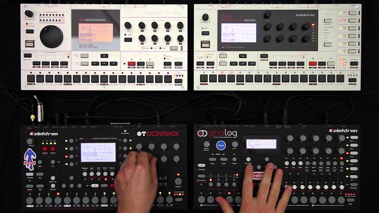 elektron jam session 1 analog four octatrack machinedrum monomachine youtube. Black Bedroom Furniture Sets. Home Design Ideas