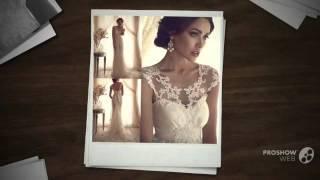Мода 2015 года - свадебное платье, до пола, без рукаово с кружевами.