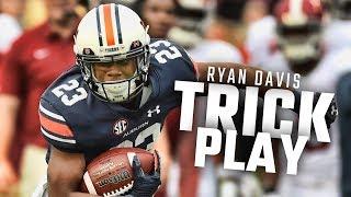 Ryan Davis, Kerryon Johnson, and Jarrett Stidham use some trickery vs Alabama