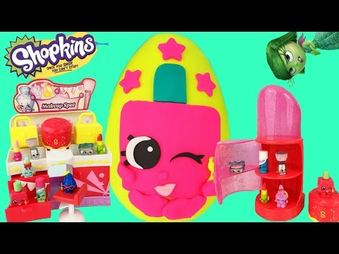 SHOPKINS Season 3 Fashion Spree Makeup Spot Polly Polish Play Doh Surprise Egg