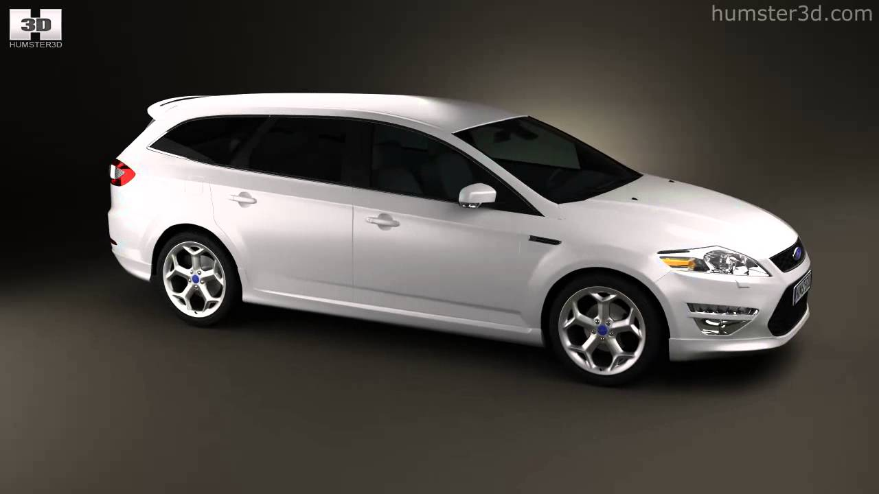ford mondeo turnier titanium x mk4 2012 by 3d model store youtube. Black Bedroom Furniture Sets. Home Design Ideas