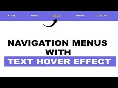 Navigation Menus With Text Hover Effect      HTML And CSS : For Beginner