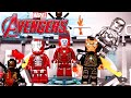 Lego Marvel Avengers Hall of Armor Iron Man Building Review 76125