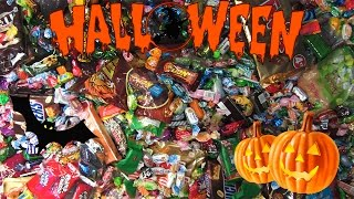 New! A Lot Of Halloween Candy! A Lot Of Sweets And Surprise Eggs!
