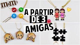 DIY: COLAR DA AMIZADE PARA 3,4,5... AMIGAS